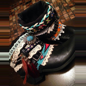 """The """"Molly"""" - Custom Upcycled Leather Cowboy Boots"""