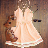 Modern Day Cinderella Dress in Peach