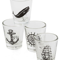 ModCloth Nautical Take a Swig, Mate Shot Glass Set