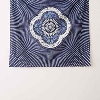 Magical Thinking Neela Batik Medallion Tapestry - Indigo One