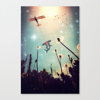Flying Lessons Stretched Canvas by Paula Belle Flores