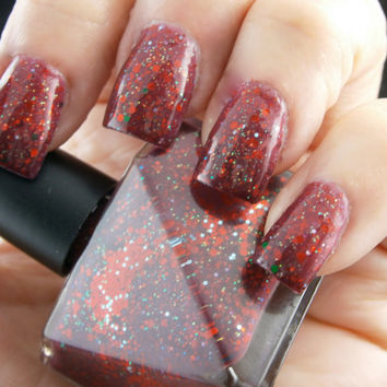 Christmas Evie Nail Polish - Cranberry Thermo Color Changing - Full Size 15 ml Bottle