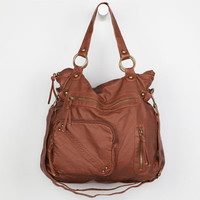 T-Shirt & Jeans Front Pocket Tote Bag Cognac One Size For Women 19440840901