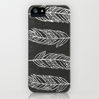 Feathers iPhone & iPod Case by Michaela Ramstedt