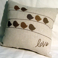 Birds of a Feather Pillow by cayteelynn on Etsy