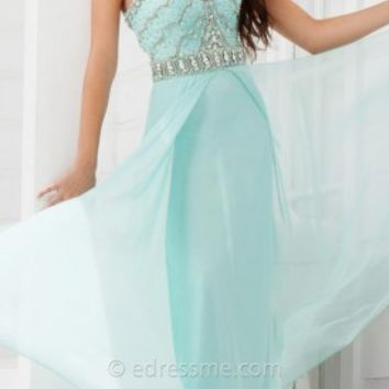 Scalloped Car Wash Prom Gown by Tony Bowls Paris