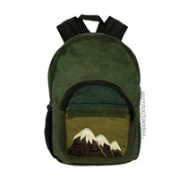 Mountain Corduroy Patchwork Backpack on Sale for $39.99 at HippieShop.com
