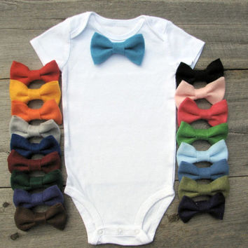 Easter Baby Boy Clothes, Bow Tie Onesuit - Choose One Color
