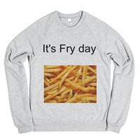 fry day sweatshirt-Unisex Heather Grey Sweatshirt