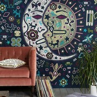 Magical Thinking Mystic Folk Tapestry- Blue Multi One