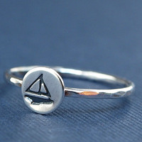 Little Sterling Silver Sailboat Ring