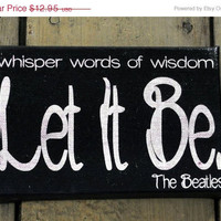 reNEW the Year SALE: Let it Be Mini  -  Expressive Art on Canvas wall decor for Dorm, Bedroom, Kitchen, Bathroom