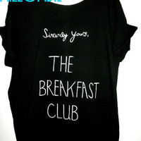 BREAKFAST CLUB 80s movie off the shoulder loose fitting regular and plus size
