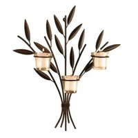 Leaf Wall Sconce w/ 3-Votive Cups