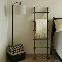 Industrial Blanket Ladder - Industrial Furniture - Towel Rack