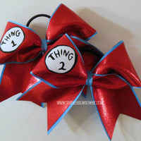 Thing 1 and Thing 2 Cheer Bow Hair Bow by SparkleBowsCheer on Etsy
