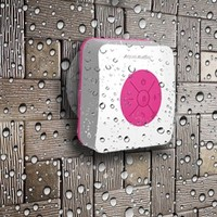 AquaAudio Cube - Mini Ultra Portable Waterproof Bluetooth Wireless Stereo Speakers with Suction Cup for Showers, Bathroom, Pool, Boat, Car, Beach, Outdoor etc. | For All Devices with Bluetooth Capability + Siri Compatible - 6 Hours Playtime / with Built-in