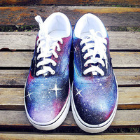 Custom Vans Sneakers Galaxy Themed Vans
