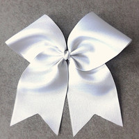 Classic White Cheer Bow