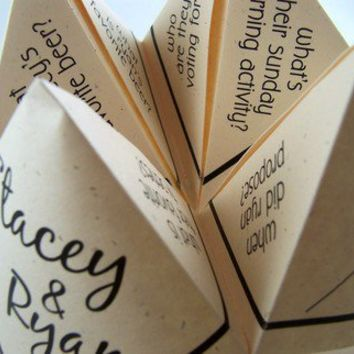 [sold out] Cootie Catchers- Origami Wedding PlaceCards-Favors- Set of 75