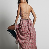 Lotta Stensson for Free People Womens Strappy Tie Back Dress - Rose