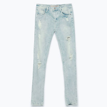Ripped slim fit trousers