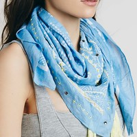Free People Maya Bay Embroidered Scarf