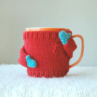 Cozy Mug Sweater, in Red