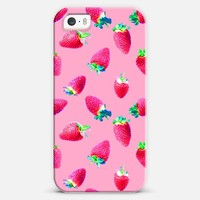 Pink Strawberry Pop iPhone 5s case by Micklyn Le Feuvre | Casetagram