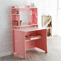 Legare 36 in. Desk with Hutch - Pink & White   www.hayneedle.com