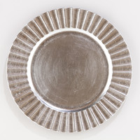Fluted Silver Charger, Set of 4 - World Market
