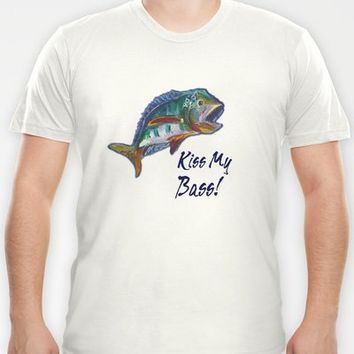 Wide Mouth Bass T-shirt by gretzky | Society6