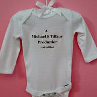 Personalized 1st Edition Bodysuit/ Baby Onesuit/ One of a Kind Onesuit/ Infant Onesuit/ Baby Shower Onesuit