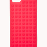 FOREVER 21 Studded Phone Case Neon Coral One