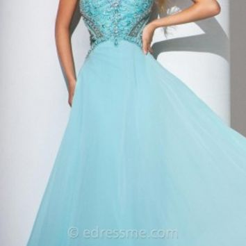 Palmette Detailed Prom Gown by Tony Bowls Le Gala