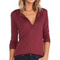 LA Made Long Sleeve Blouse in Red