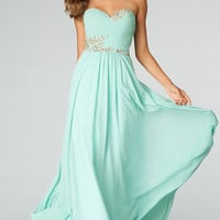 Long Strapless Evening Gown by JVN Jovani