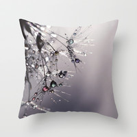 droplets of rainbow sparkles Throw Pillow by ingz