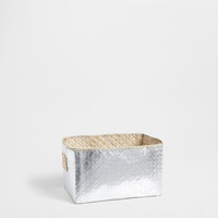 Metallic-look basket - This week - New Arrivals | Zara Home United States