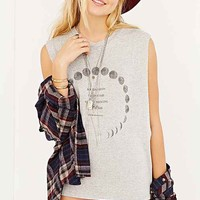 Truly Madly Deeply Moon Dreams Muscle Tee- Light Grey