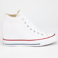 Converse Chuck Taylor All Star Lux Mid Womens Shoes White  In Sizes