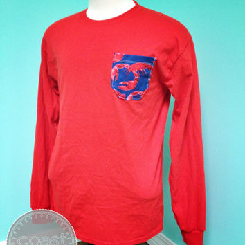 Shore Thing Long Sleeve Lobster Pocket Tee