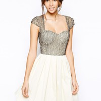 Chi Chi London Lace Prom Dress with Sweetheart Neck