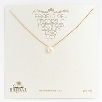 Women's Dogeared 'Pearls of...' Boxed Pendant Necklace