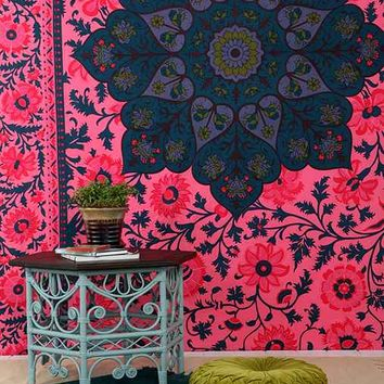 Magical Thinking Technicolor Medallion Tapestry- Pink One