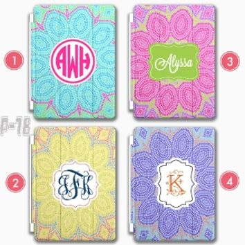 Flower iPad Air case Custom iPad Mini Smart Cover Monogram iPad 3