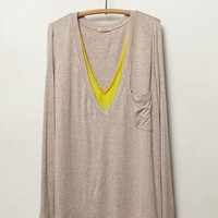Layered V-Neck by Bordeaux Chartreuse L P Apparel
