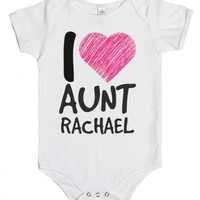I Love My Aunt Custom Infant One Piece