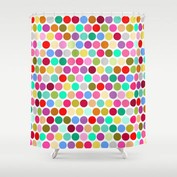 dotty Shower Curtain by musings