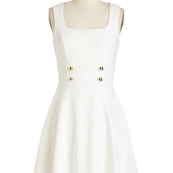 Delightfully Charming Dress in White | Mod Retro Vintage Dresses | ModCloth.com